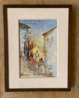 *Original* Art Antonio Vasquez Parra  Village Stairway