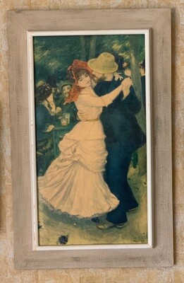 Renoir Print on Board Dance at Bougival