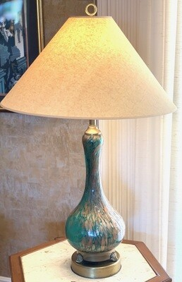 Vintage Murano Glass Gold Fleck lamp