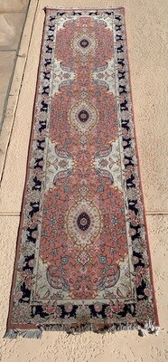 #2  10ft Pakistan Hand Knotted Fine Rug Runner