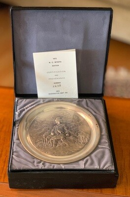 1972 Washington Mint Sterling Silver Wyeth Plate