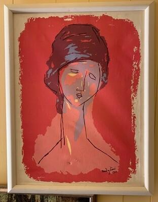 Amedeo Modigliani Tete De Femme 1916 Vintage Canvas Print