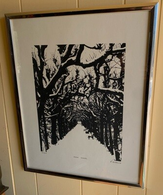 *Signed* R. Ehrlich Snow Scene Print