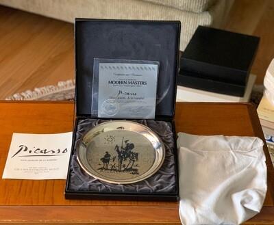 Sterling Silver Picasso Don Quixote De La Mancha Geo Washington Mint