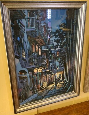 *Signed* Pirate in Alley Art Ron Picou Litho