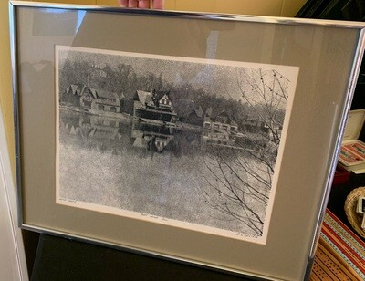 *Signed* R Ehrlich Boat House Row Artist Proof