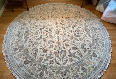 Traditional 8ft Round Area Rug
