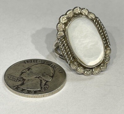 Native American Mother of Pearl Sterling Silver Ring