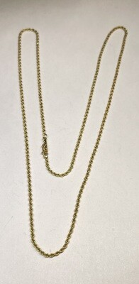 24in 18k Gold 2mm Rope Necklace