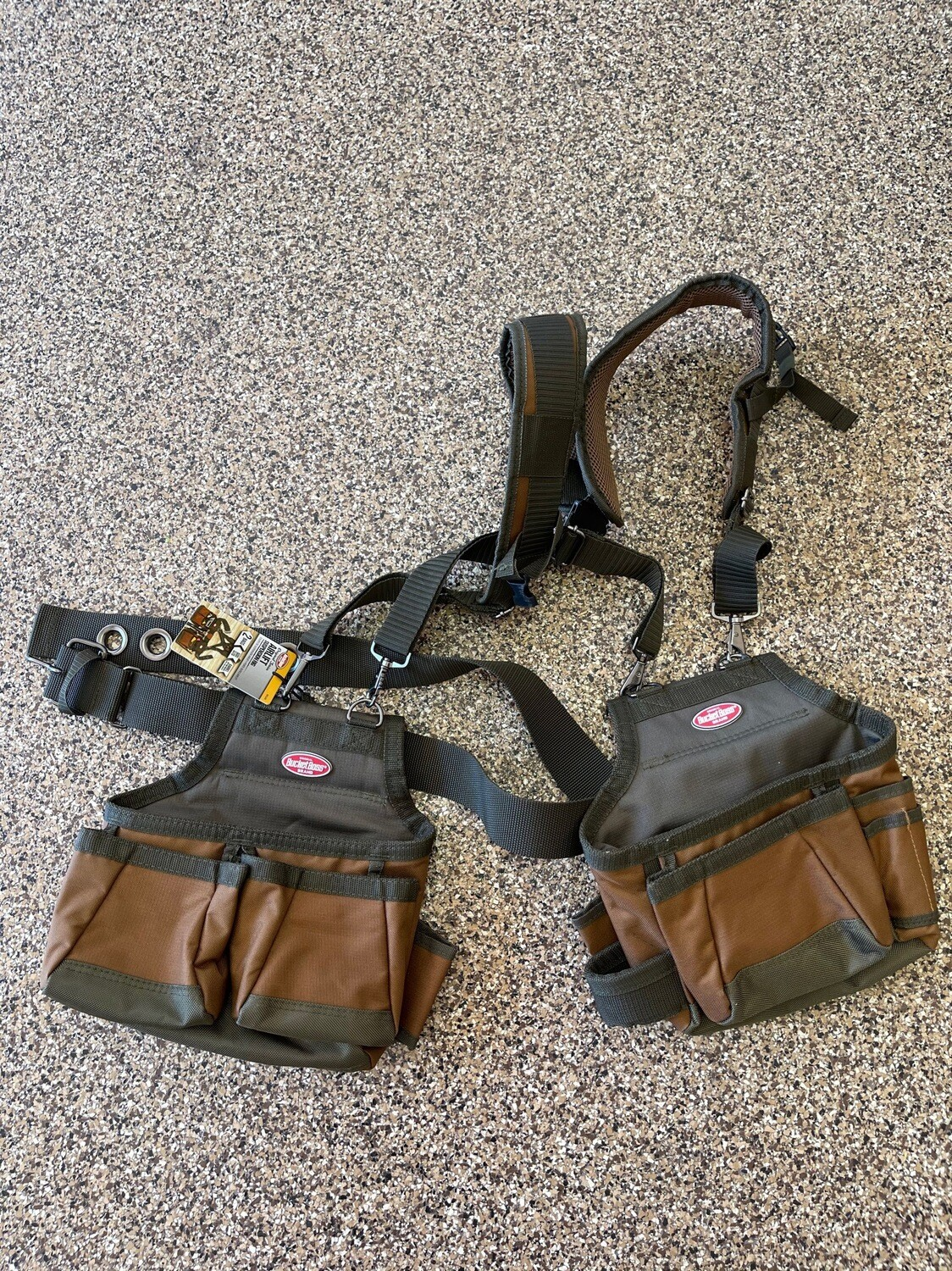 Construction Tool Belt Pouch Suspenders Carpenter Vest AirLift Suspension Rig brand new