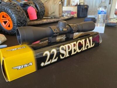 BSA 22 Special Scope 4x32 w/ Mounts & Original Box