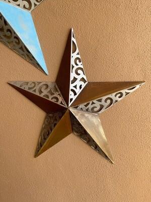 Medium rustic metal star outdoor wall art Decor