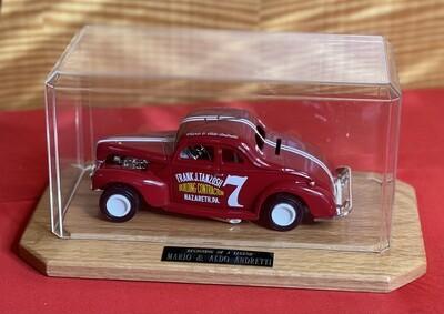 *Signed* Mario & Aldo Andretti ERTL 1940 Ford Model in display case