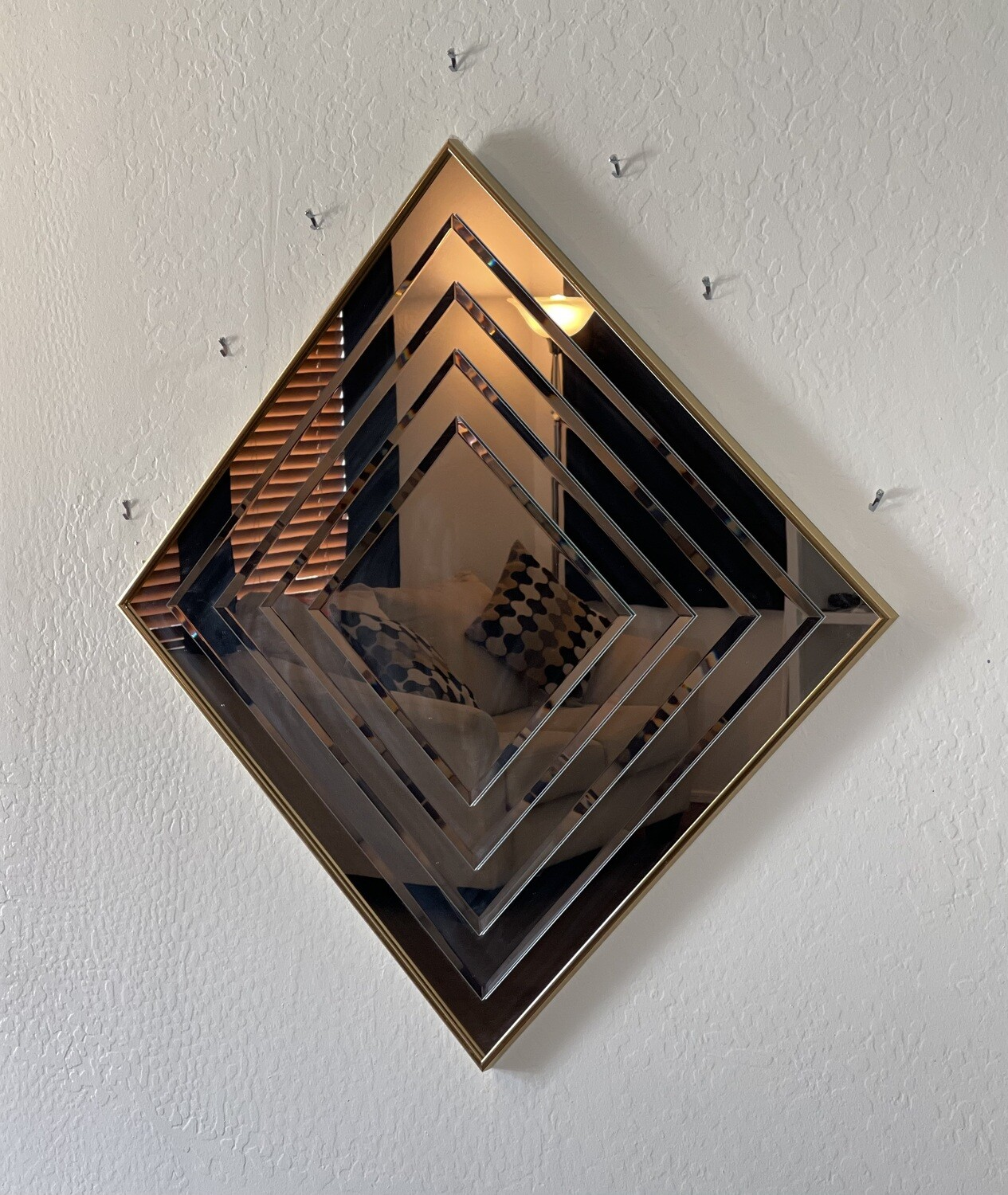 1980s Gold Layered Mirror