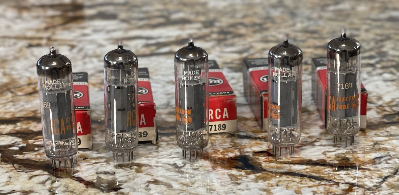 5 pc RCA 7189 EL84 Holland Amperex Tubes