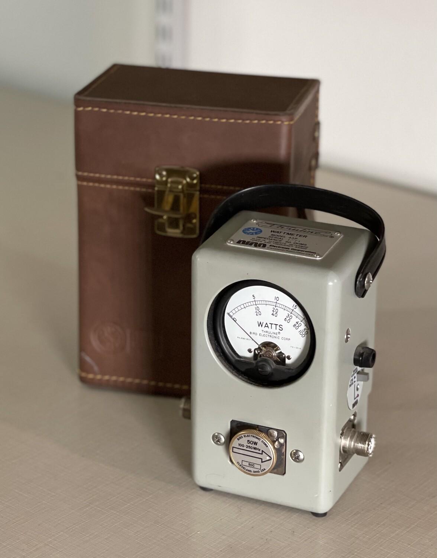 Bird Thruline Wattmeter 43P in Case Watt Meter