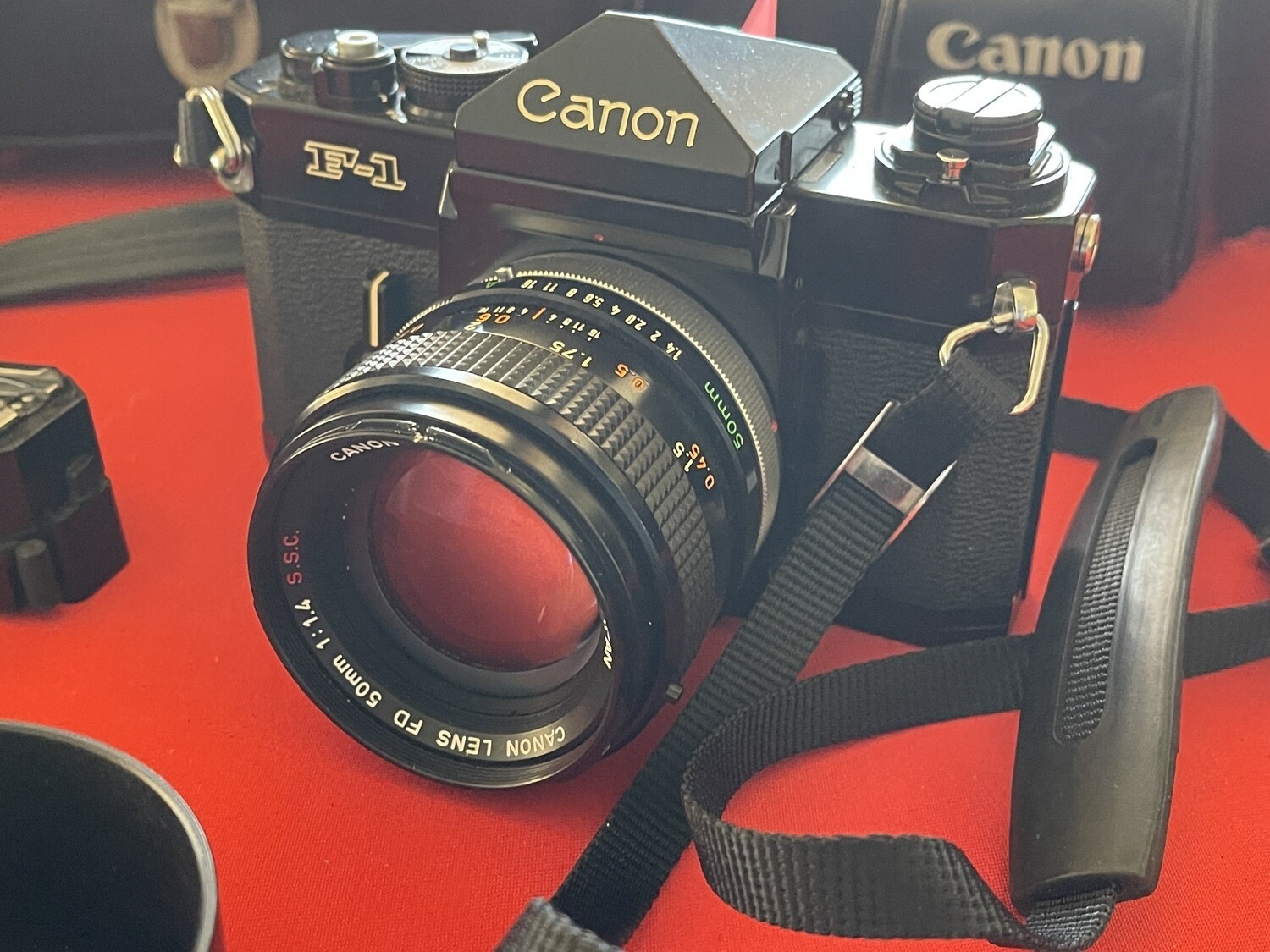 Canon F-1 Camera W/50mm 1.4 lens Camera Package