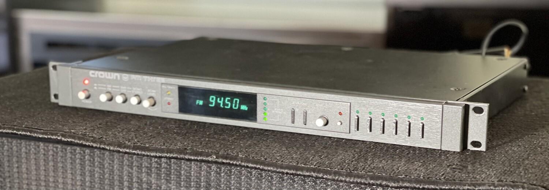Crown FM Three 3 Vintage AM/FM Stereo Tuner FM3 BLACK