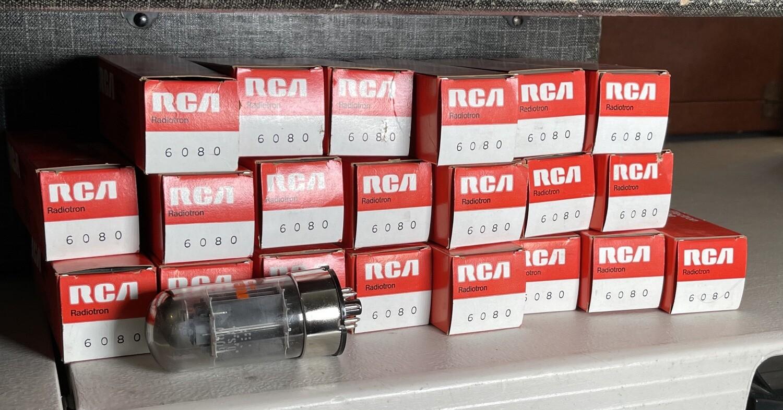lot of 25 RCA 6080 NOS Tubes