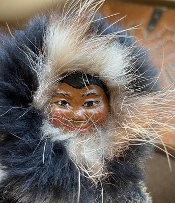 Inuit Eskimo Ookpik Man Happy Valley LABRADOR sealskin