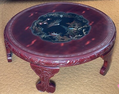 Japanese Hand Painted MOP Inlay Coffee Table
