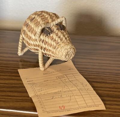Papago Coil Basket Pig Tohono O'odham Native American