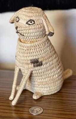Papago Coil Basket Spotted Dog Tohono O'odham