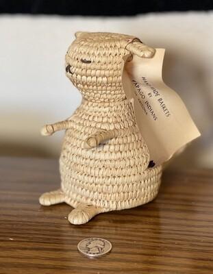 Papago Coil Basket Weave Dog Tohono O'odham