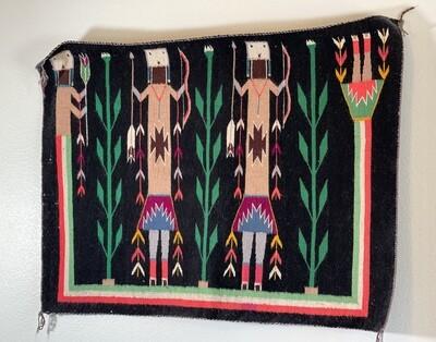 Navajo 3 Yei Rug Native American