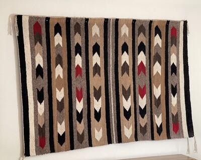 Navajo Banded Chevron Blanket Native American