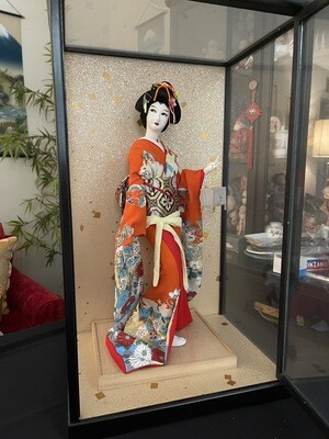 Vintage Beautiful Japanese Nishi Doll Japan 17 Inch Elaborate Dress Geisha