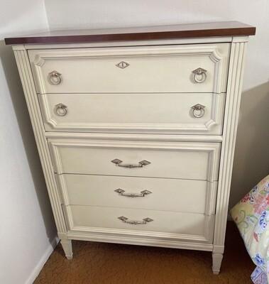 Vintage Lou Register 5 drawer Dresser