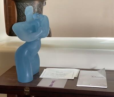 Daum Catherine Lorain La Maternite Crystal Sculpture Statue