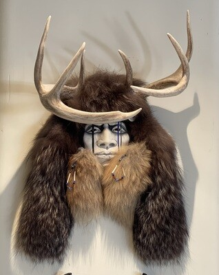 Cherokee Kathryn Yauney Deer Warrior Spirit Mask Native American