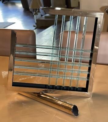 Glass & Gold Contemporary Centerpiece Sculpture