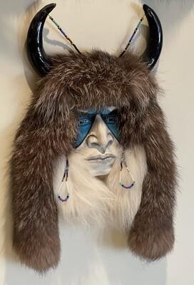 Cherokee Kathryn Yauney Buffalo Warrior Spirit Mask Native American