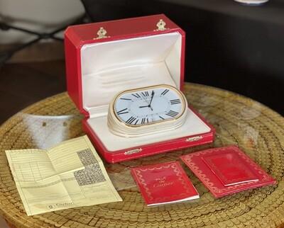 Cartier Pendulette Concours Desk Clock in Original Box  LES MUST DE CARTIER