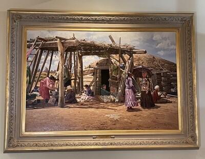 *Original* Oil Ray Swanson Navajo Summer 40x60in Art Painting Native American