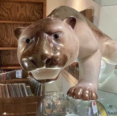 Giulia Mangani Porcelain Mountain Lion Panther Porcellane dárte Jaguar Oggetti