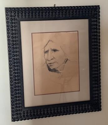*Original* Frank Howell Sketchbook Drawing Pencil Framed Sketch #1