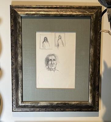 *Original* Frank Howell Sketchbook Drawing Pencil Framed Sketch #2