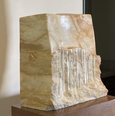 *Original* Art  Abstract Stone Sculpture w/ Stand