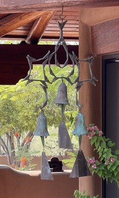 Paolo Soleri Cosanti Bronze Triple Bell