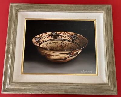 *Original* Art Chuck Sabatino Zuni Stew Bowl Painting