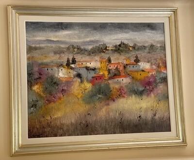 *Original* Art PASQUINI LUCIANO  Village Painting