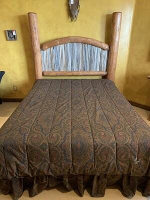Queen Bed  Rustic Cedar Log  & Saguaro Headboard