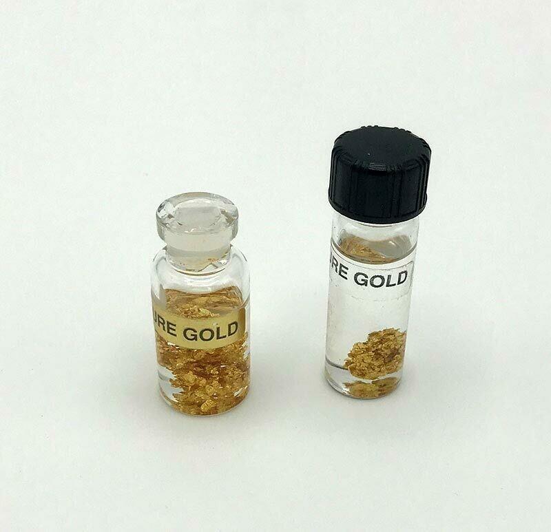 14K Gold Leaf in Keepsake Bottle