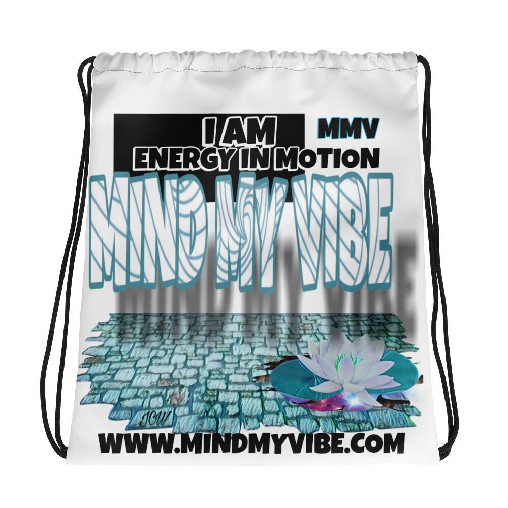 MMV-I Am Energy, Lotus, Drawstring bag