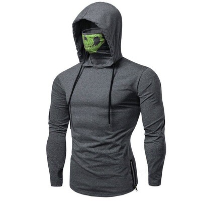 Turtleneck Face mask Fitted thin hoodie Sweatshirt