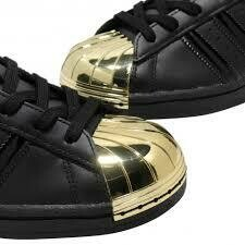 Adidas Originals Superstar Metal Toe Core Black / Gold Metallic - Men/Women Sizes